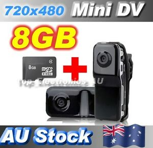 Mini Portable DV DVR Camera MD80 Video Recorder Sports Bicycle Webcam+8GB Card