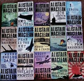 Collection of Alistair Maclean books. 15 titles