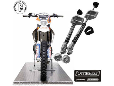 TwinLox Fastening system for Street and Supermoto without Tension strap black