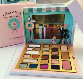 Too Faced Christmas In New York The Chocolate Shop Makeup Set NEW