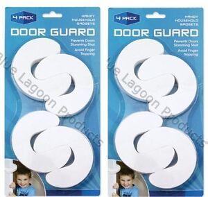 8 x Protector De Puerta Tope seguridad del bebé Jammer Espuma Anti Dedo Jamming