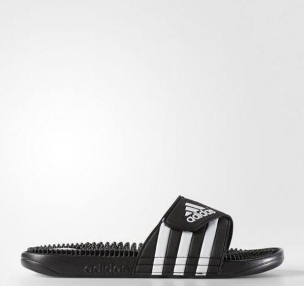 ADIDAS adissage Men black White Sandal Slippers 078260  Fast