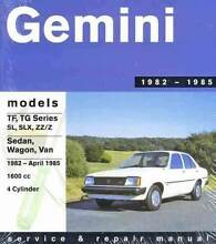 Holden Gemini TF TG 1982 - 1985 Gregorys Repair Manual Blacktown Blacktown Area Preview