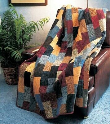 Flannel Brick Road Quilt KIT - Quilt Pattern + Moda Flannel Fabric