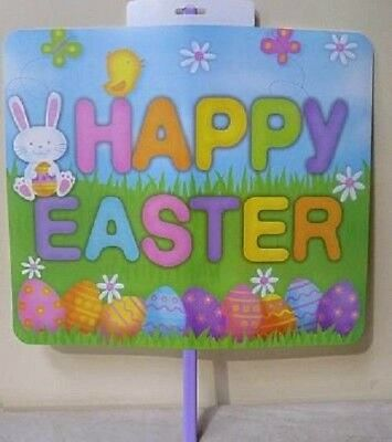 Fun Machine HAPPY EASTER bunny EGG Garden yard lawn Sign Easter Party Decoration](Plastic Easter Bunny Yard Ornament)