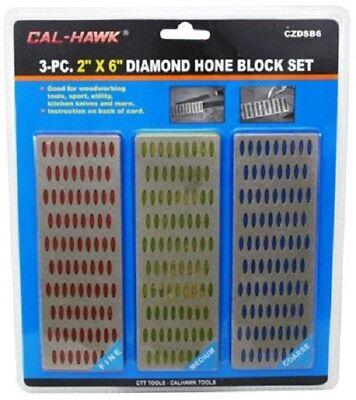 3pc Large Diamond Sharpening Hone Set Stone Whetstone Block Kitchen Knife Diamond Set Knife