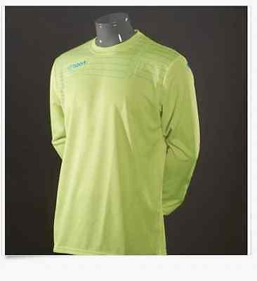 New Uhlsport MATCH TOP Shirt Soccer Goalkeeper Jersey FLUO NEON YELLOW NWT  XXL f0cf84ade
