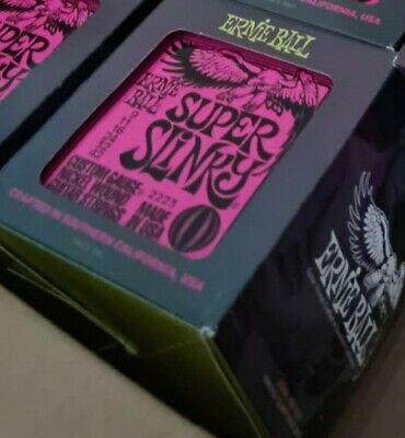 * 12 Pack Ernie Ball Super Slinky 9-42 Guitarra Eléctrica Cuerdas 2223...
