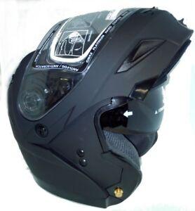 Gmax Gmax GM54S Matte Black Modular Snow Helmet Electric Shield Cord Size Large