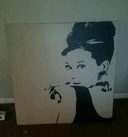 Large Audrey canvas
