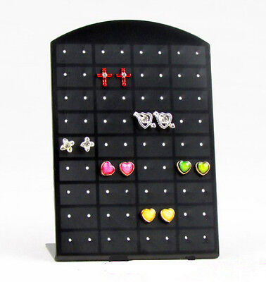 72 Holes Earrings Display Stand Organizer Jewelry Holder Showcase Tool Rack Hs89