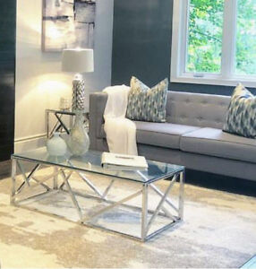 New Modern Stainless Steel Chrome / Golden Coffee Tables SALE
