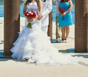 Maggie Sottero Wedding Dress and White Vail