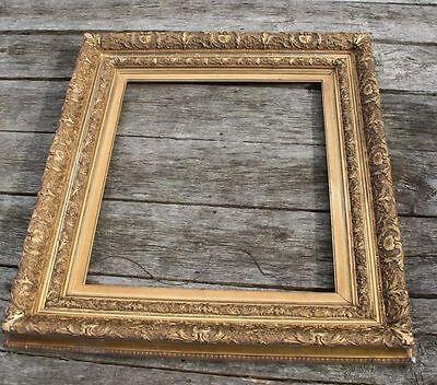 Rahmen Stuckrahmen antik Blattgold Bilderrahmen Spiegel 105 x 116 ca. 150 Jahre
