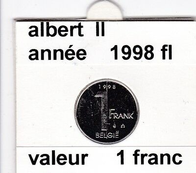 FB 2 ) pieces de albert II  1 francs 1998  belgie