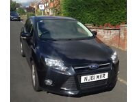 2011 (61 Plate) Ford Focus 1.6 TI-VCT 125ps Zetec Petrol Hatchback (Black) 5 Door. Only 31000 miles