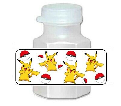 30 Pokemon Pikachu Birthday Party Favor Bubble Labels  - Pokemon Birthday Favors