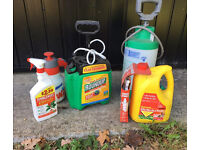 Root and weed killer pumps and sprays