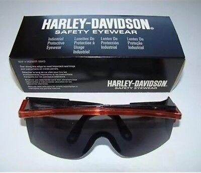 New Harley Davidson Safety Glasses Gray Lens Hardcoat Eyewear