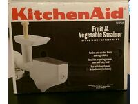 KitchenAid grinder & fruit/veg strainer set