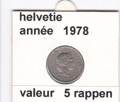 S 1 ) pieces suisse de 5 rappen   1978  voir description