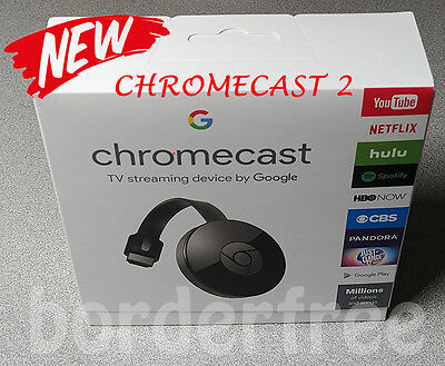 Google Chromecast Streaming Media Player  2Nd Gen    Brand New