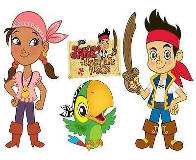Jake And The Neverland Pirates Fabric (Jake and The Neverland Pirates # 10 - 8 x 10 - T Shirt Iron On)