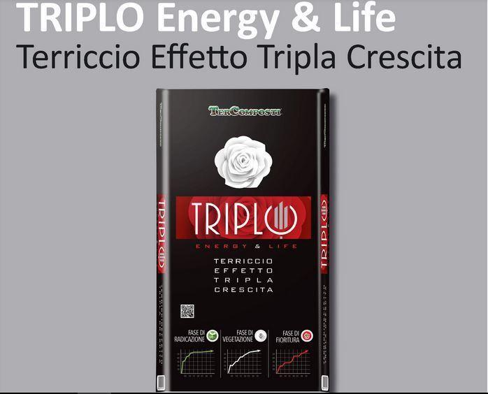 TERCOMPOSTI TRIPLO RED TERRICCIO TERRA SUBSTRATO 45 e 70 LT CRESCITA ENERGIA