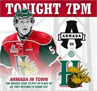 Mooseheads tickets for TONIGHT against Armada! SAVE $$$$$