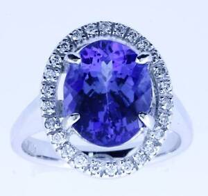 TANZANITE AND DIAMOND SET RING 18ct WHITE GOLD Buderim Maroochydore Area Preview