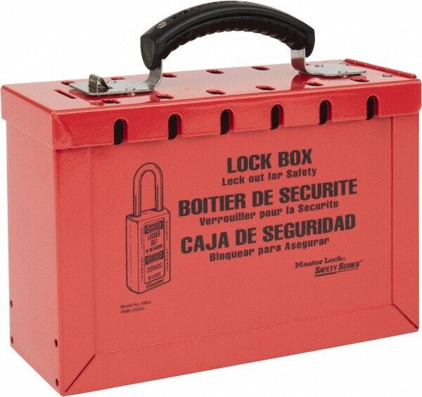 "Master Lock. 3-3/4"" Deep x 9-1/4"" Wide x 6"" High, Portable Group Lockout Box ..."