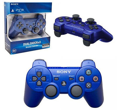 NEW Original Replacement Sony PS3 Wireless Dualshock 3 Controller - BLUE
