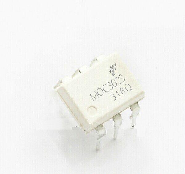 2PCS MOC3023 OPTOCOUPLER TRIAC-OUT 6-DIP FSC NEW GOOD QUALITY