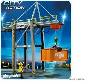 + Playmobil ; Construction, Camion, grue