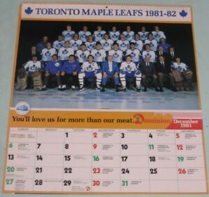 Toronto Maple Leads 1981-82 Calendar