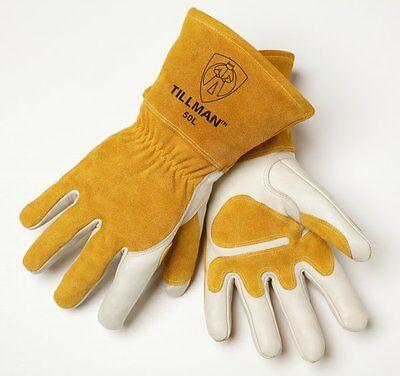 Tillman Mig 50m Top Grain Split Cowhide Welding Gloves - Size Medium