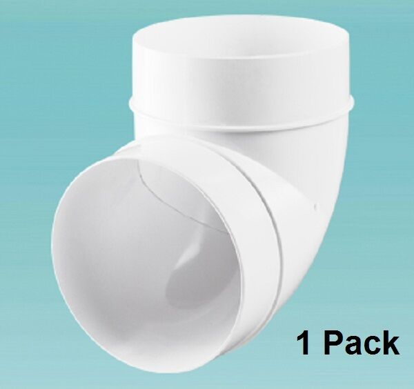 Ducting degree elbow bend fans mm quot round pvc