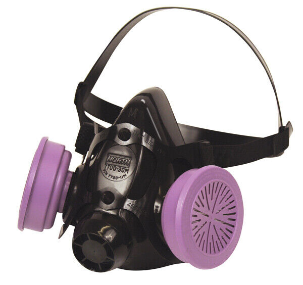 North 7700 Series Half Face Respirator, 7700-30S W/ 1 PR 7580P1OO Filter, SMALL Business & Industrial