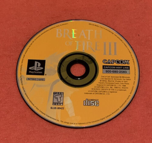 Breath Of Fire Iii 3 Ps1 Disc Only - $26.00