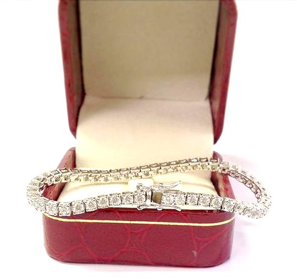"5.00 Carat Ct Round Cut Diamond Tennis Bracelet 14k White Gold 7.25"""