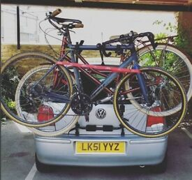 Halfords Rear High Mount 3 Cycle Carrier + Bike bar accessory