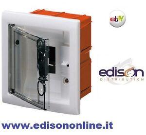 Gewiss quadro elettrico da incasso 4 moduli bianco for Centralino esterno 4 moduli
