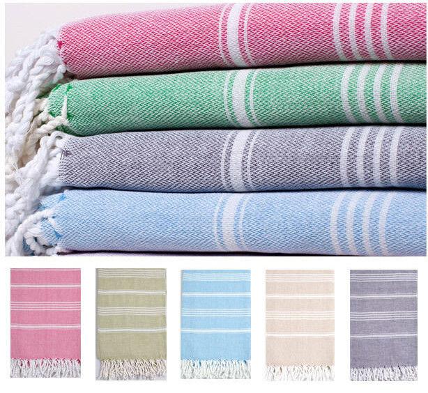 Cotton Fouta Turkish Towel Beach Bath Towel Hammam Pestemal