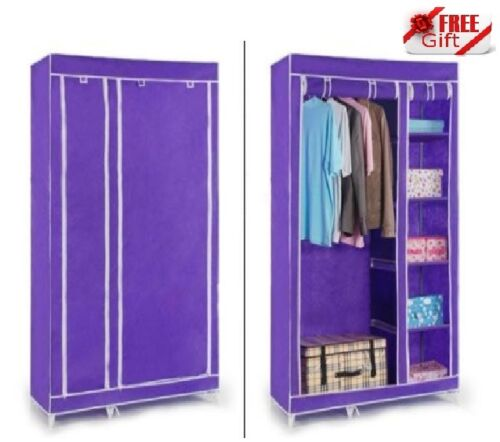 PURPLE Double Door Folding Wardrobe Cupboard Almirah available at Ebay for Rs.1395