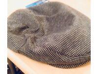 Grey medium flat cap
