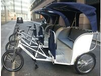 Rickshaws in Central London