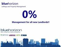 Blue Horizon Offer 0% Management Achieving Higher Than Average Rental Yields For All New Landlords!!