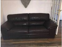 Three seater leather couch
