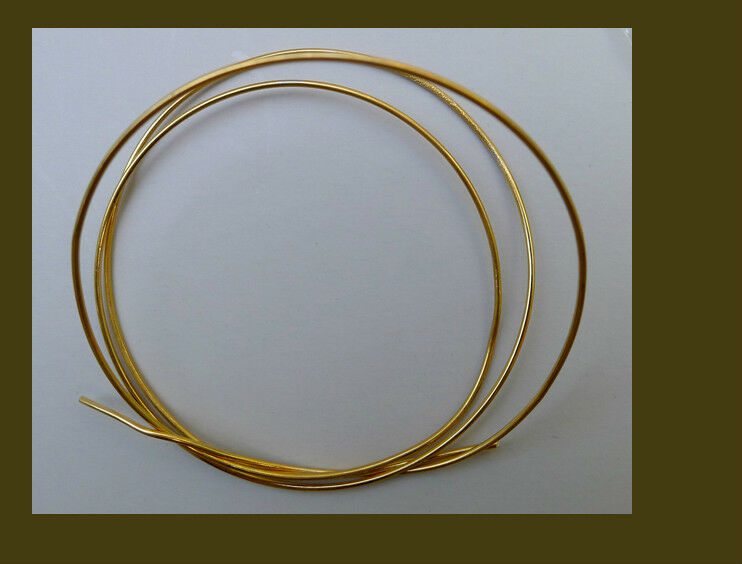 Vermeil  round wire gauge 20 for jewelry making, 2 feet
