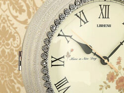 D167 White European Simple Two Sides Plastic 31.5cm Decoration Wall Clock A